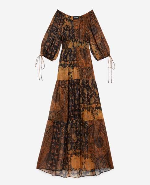 Robe longue imprimée, 415€, The Kooples
