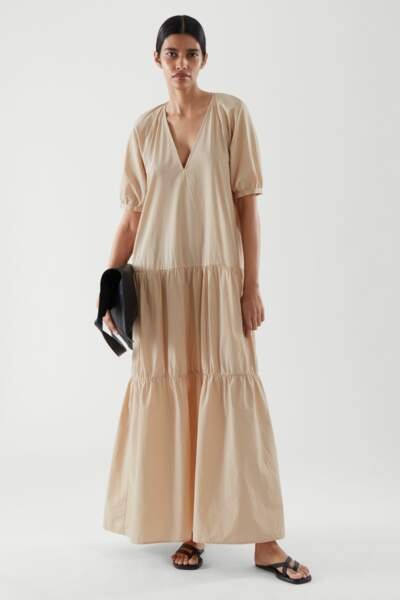 Robe longue 100% coton, 89€, COS