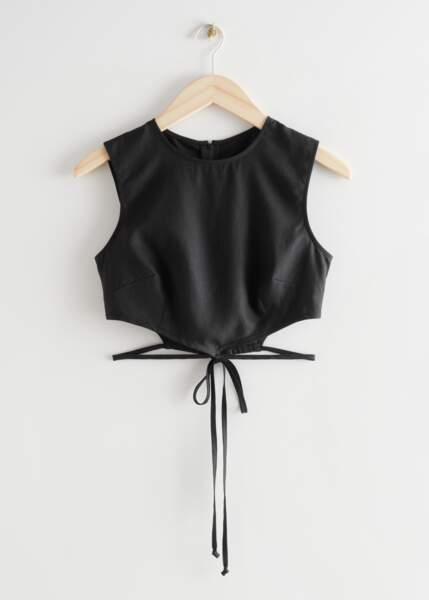 Cropped Asymmetric Tie Top, 49€, &Other Stories