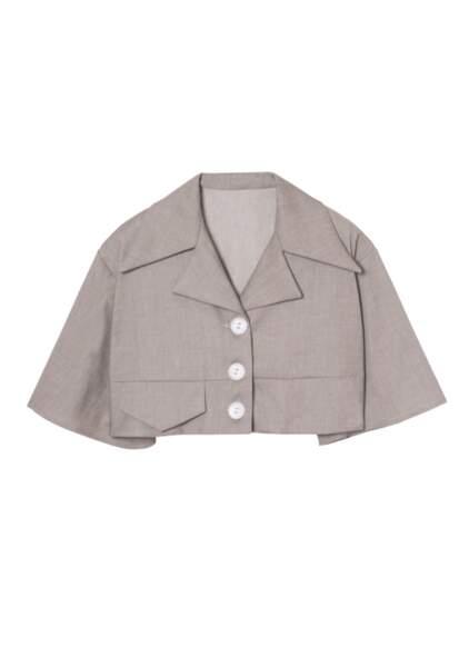 Chemise sable en lin - the air uniform , 139€, Salut Beauté