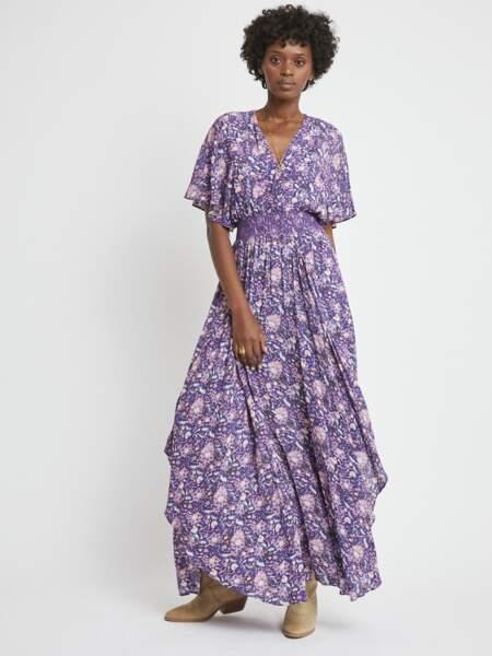 Robe longue alia fleurie, 259€, Berenice Paris