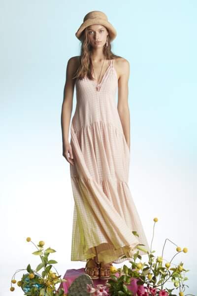 Robe en voile de coton à carreaux, 660€, forte_forte