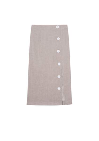 Jupe sable en lin - the air uniform 149€, Salut Beauté