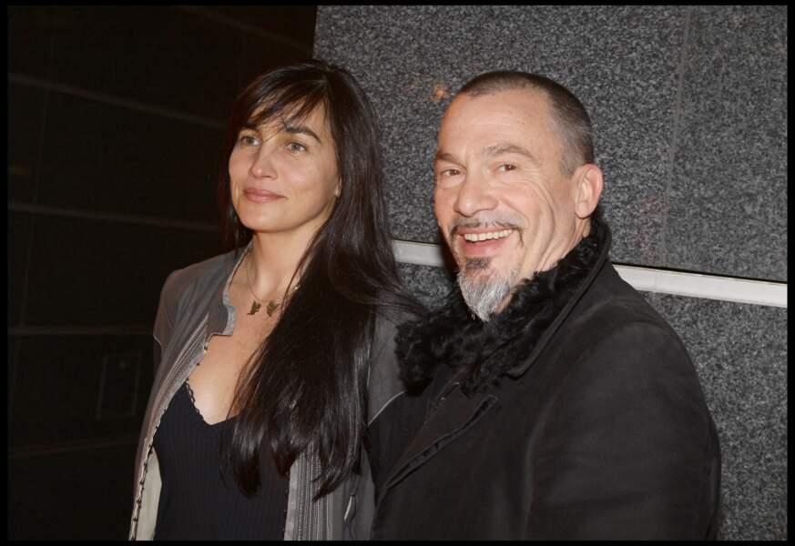 Florent Pagny et Azucena Caamaño au cocktail de rentrée de TF1