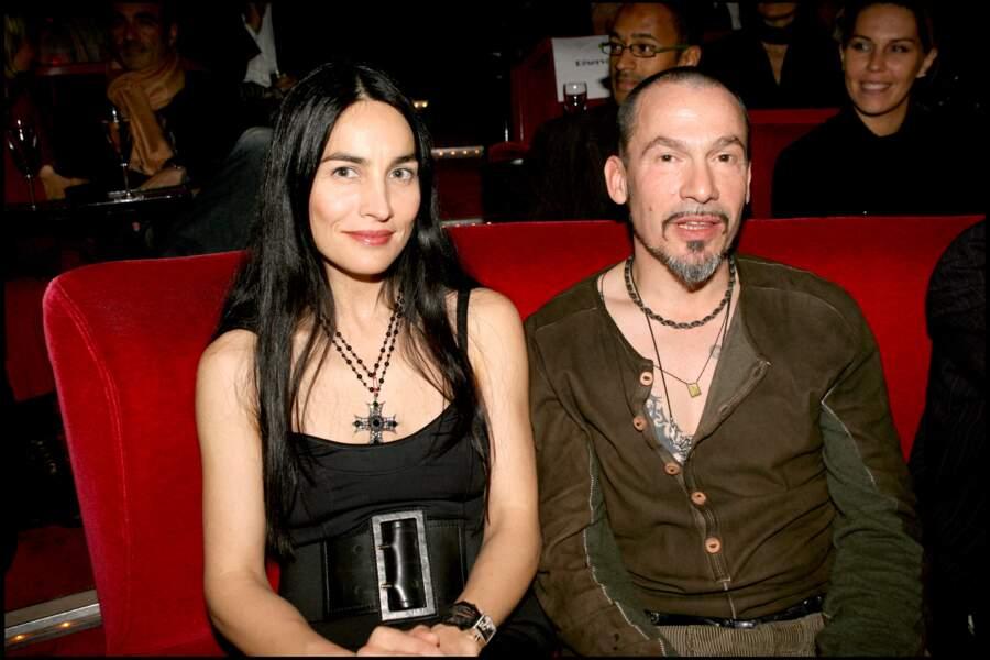 Florent Pagny et Azucena Caamaño au Crazy Horse à Paris