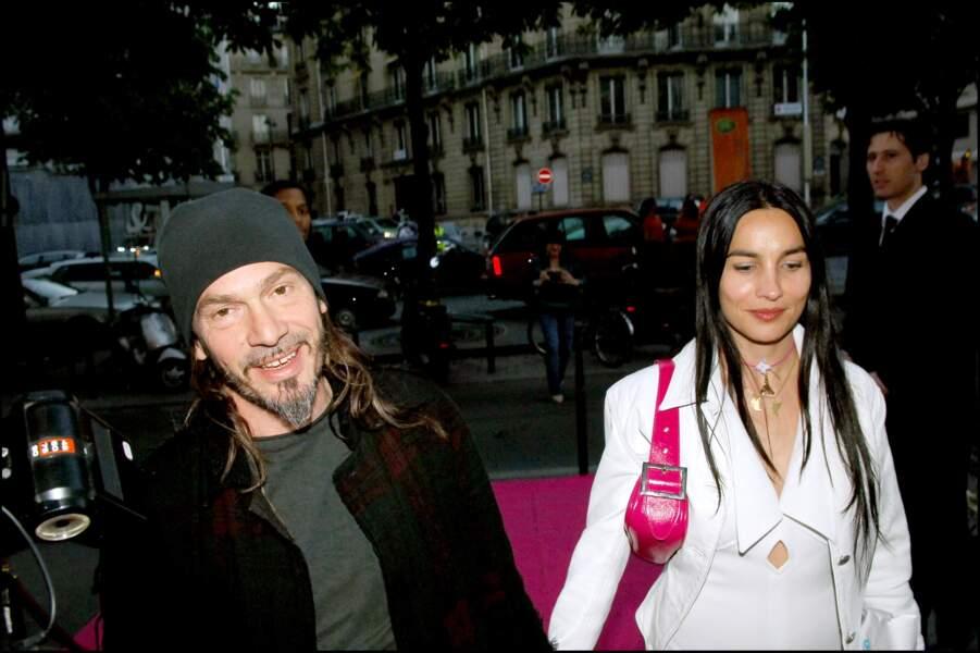 Florent Pagny et Azucena Caamaño à l'anniversaire de Cathy Guetta