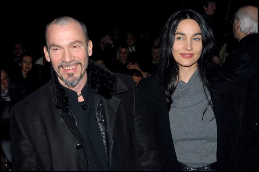 Florent Pagny et Azucena Caamaño à la soirée pour le festival international du cinéma latino américain à Paris