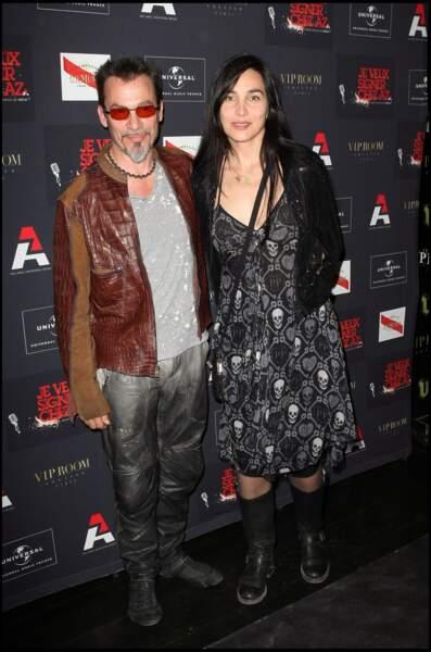 Florent Pagny et Azucena Caamaño à la soirée AZ au VIP Room à Paris