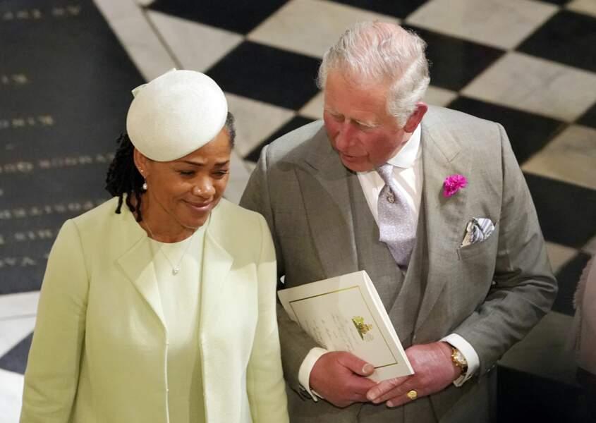 19 mai 2018 : Doria Ragland complice avec le prince Charles