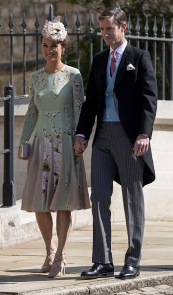 19 mai 2018 : James Matthews et sa femme Pippa Middleton, enceinte