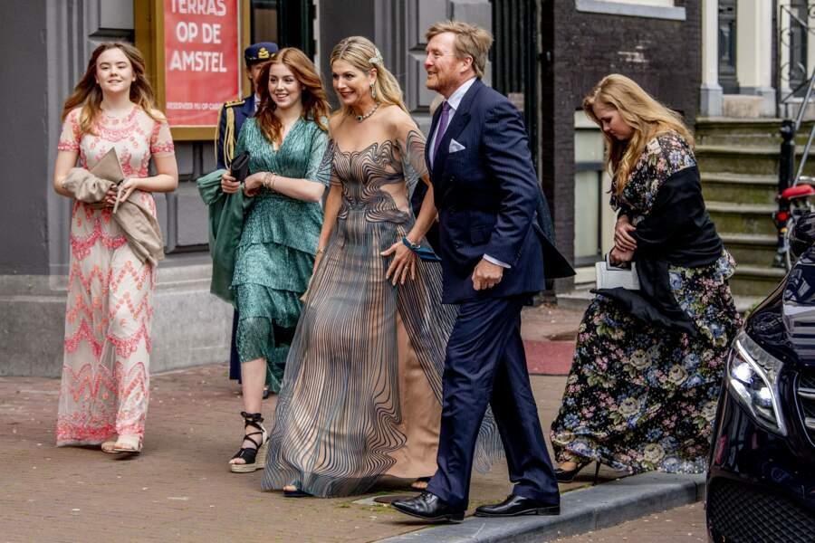 La famille royale néerlandaise était réunie à Amsterdam le 12 mai 2021 à l'occasion du 50 ème anniversaire de Maxima des Pays-Bas, qui aura lieu le 17 mai 2021.