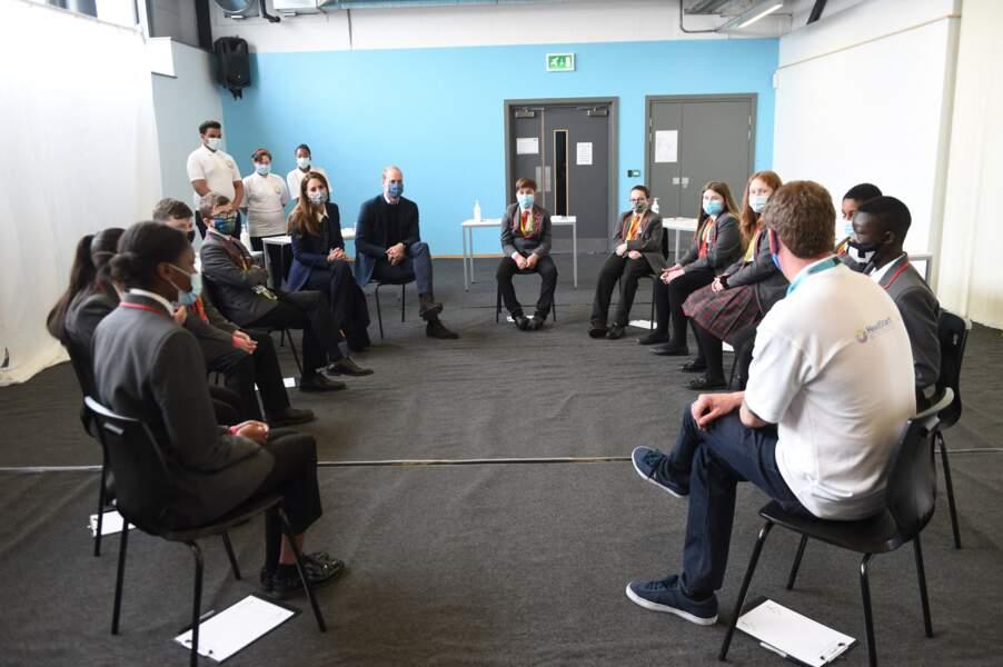 Kate et William, très engagés sur tout ce qui est santé mentale et bien-être, ont participé à une table ronde sur le sujet.
