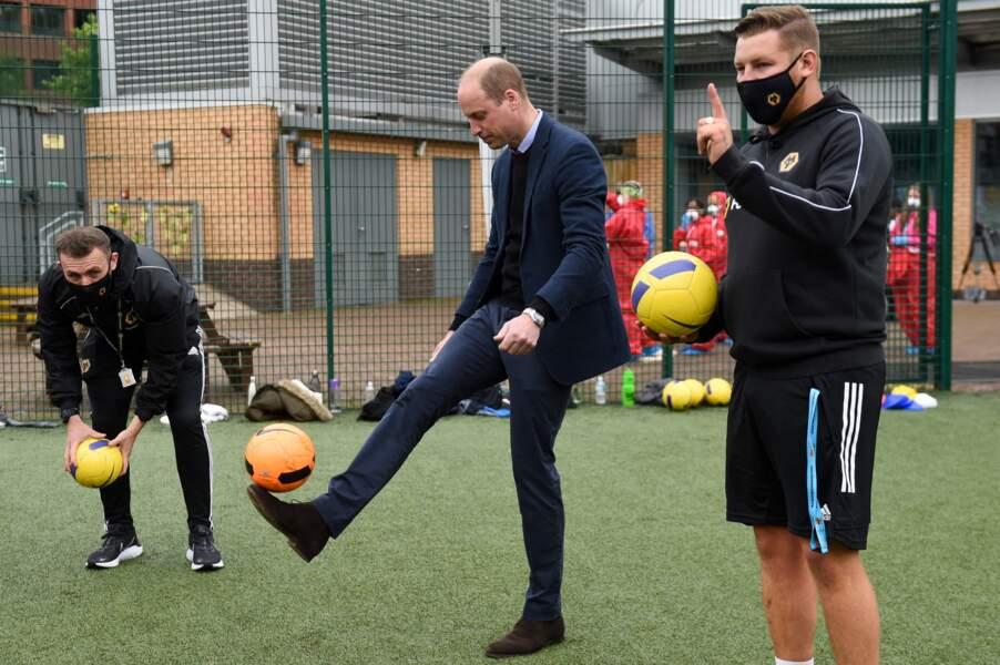 William a participé à un entraînement de foot et a fait quelques jongles.
