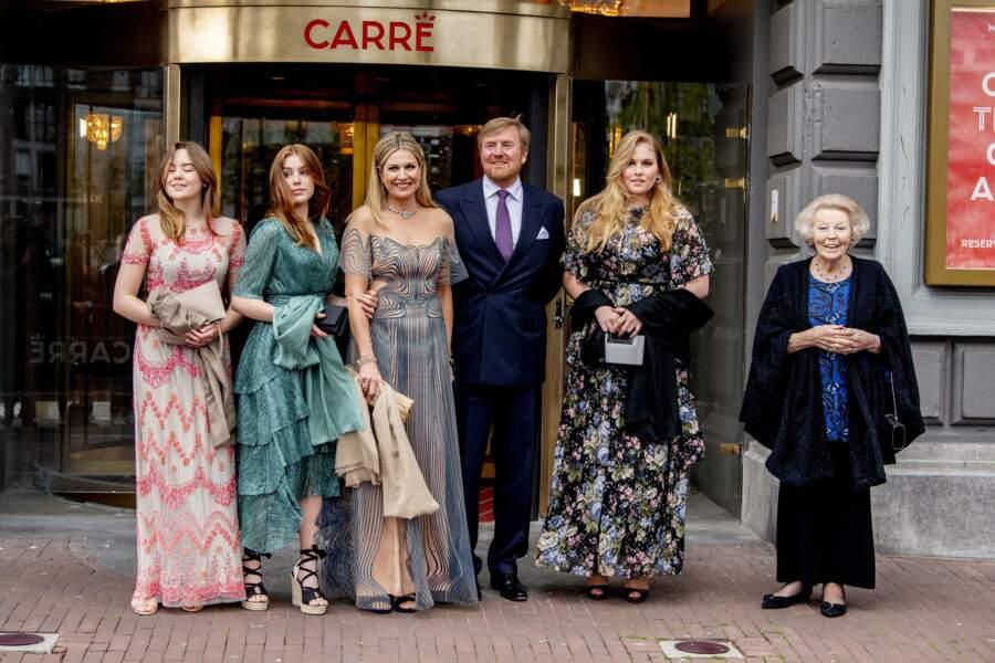 La reine Maxima des Pays-Bas était l'invitée d'honneur du spectacle musical organisé par AVROTROS, à Amsterdam, le 12 mai 2021.