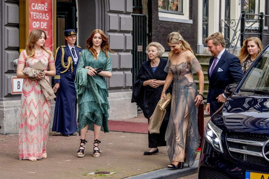 """La reine Maxima au théâtre Carre pour l'émission spéciale """"Une vie pleine de musique"""", à Amsterdam, le 12 mai 2021, en marge de son 50e anniversaire."""