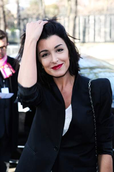 """Jenifer Bartoli au défilé de mode Pret-à-Porter Automne-Hiver 2013/2014 """"Paco Rabanne"""" à Paris, le 4 mars 2013."""