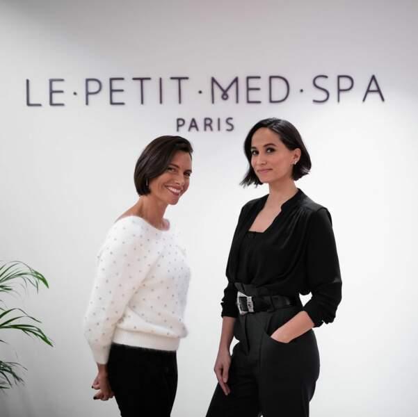 Alessandra Sublet et Axelle Francine, ex-épouse de Tony Parker, dans Le Petit Med Spa