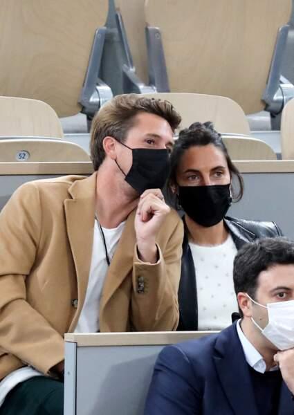 Alessandra Sublet et Jordan Deguen, à Roland Garros, en octobre 2020