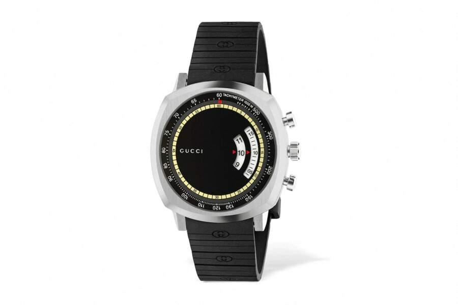 Montre GG Grip cadran en acier inoxydable, fonction chronographe, 1357,63€, Gucci