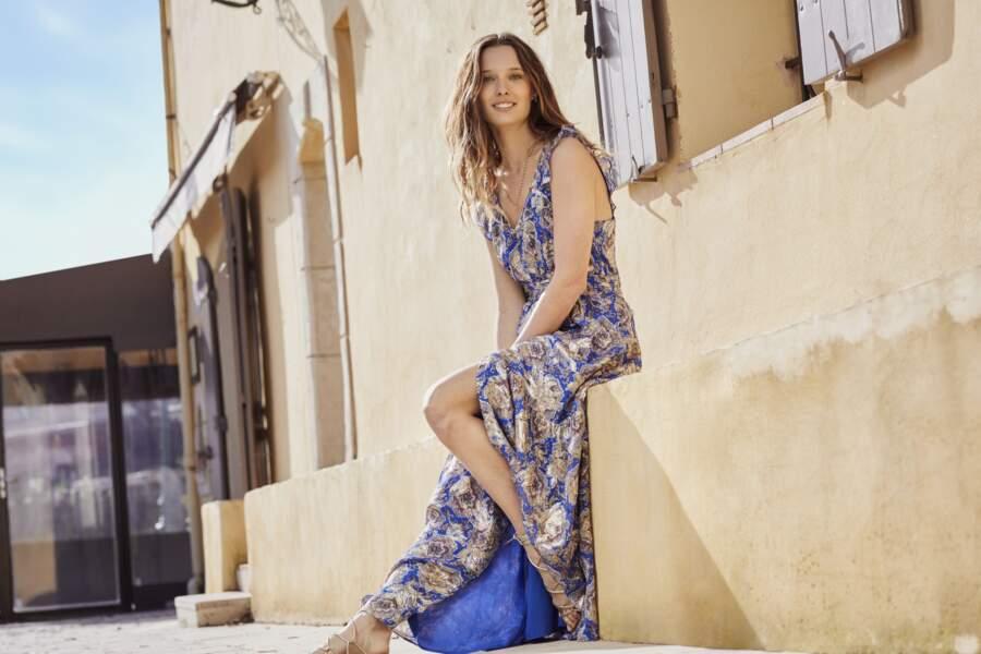 Ilona Smet pose pour la campagne printemps-été de Maison 123