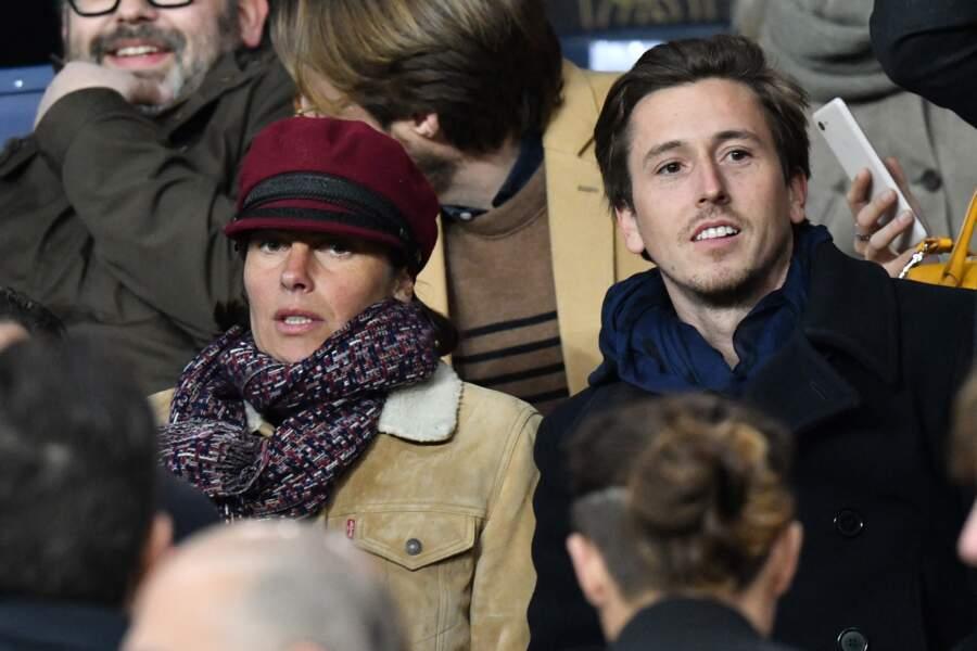 Alessandra Sublet et son ex-compagnon Jordan Deguen, au Parc des Princes en mars 2019