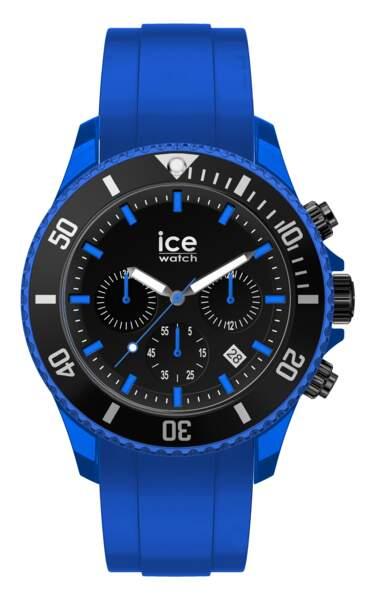 Montre Ice chrono neon blue XL 129€, Ice Watch