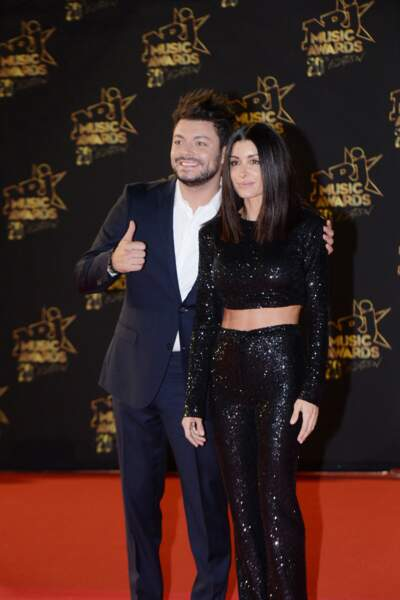 Kev Adams et Jenifer Bartoli - 20ème cérémonie des NRJ Music Awards au Palais des Festivals à Cannes. Le 10 novembre 2018