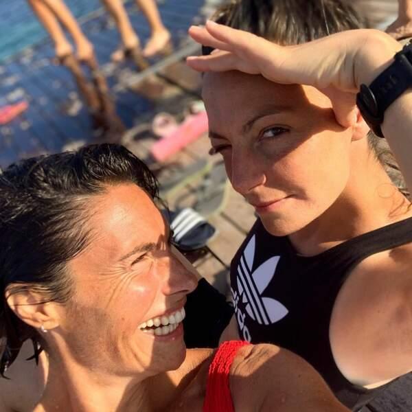 Alessandra Sublet et sa soeur Romy en août 2020