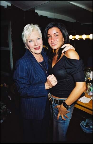 Line Renaud et Jenifer au théâtre royal à Paris, le 10 septembre 2002