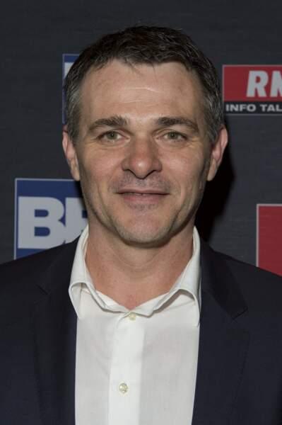 Willy Sagnol pour RMC, à Paris, en avril 2018