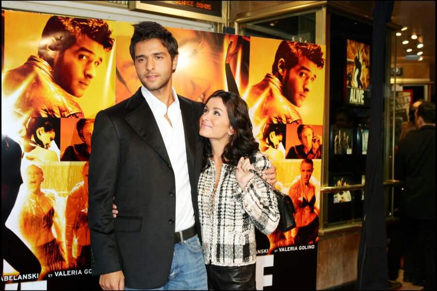 """Jenifer et Maxim Nucci à la &ere du film """"Alive"""", en 2004."""