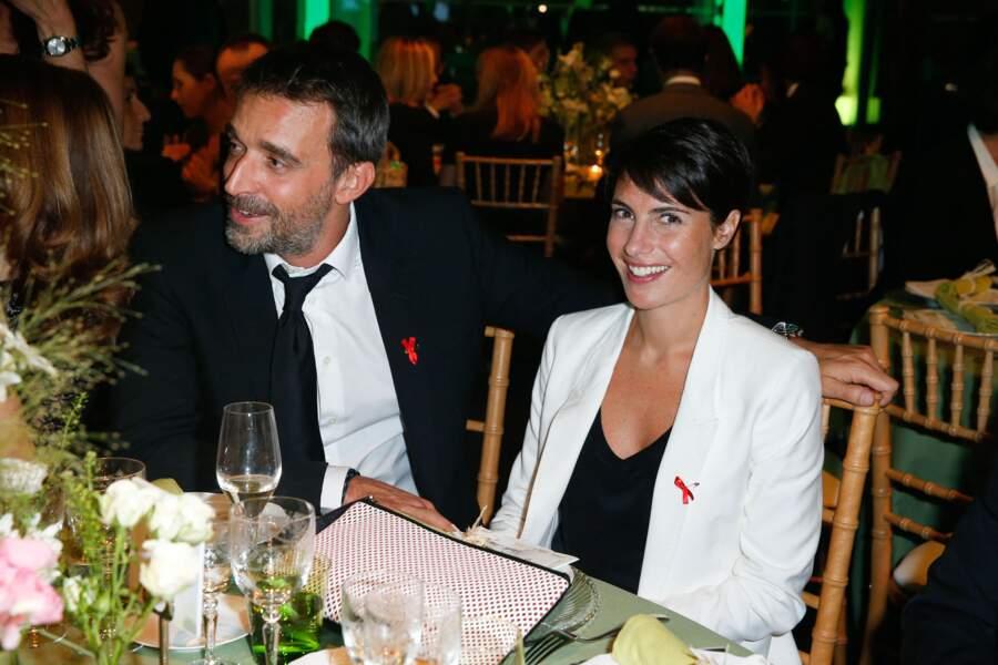 Alessandra Sublet et son mari Clément Miserez à Paris, le 23 janvier 2014.
