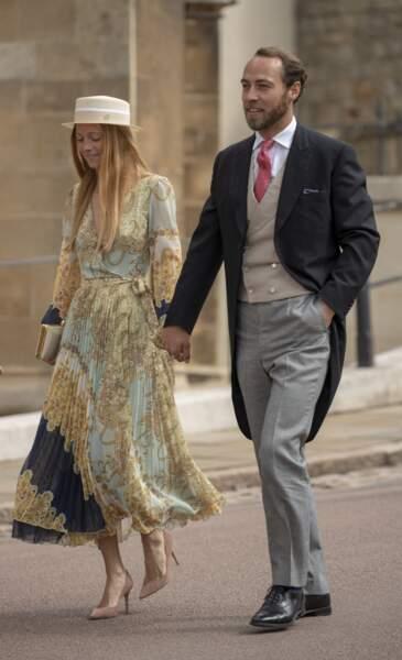 La robe plissée d'Alizee Thevenet au mariage de Lady Gabriella Windsor le 18 mai 2019.