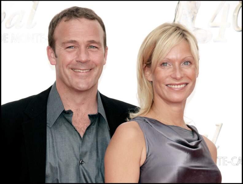 Serge Dupire et Rebecca Hampton ensemble au Festival de la tél à Monaco, le 8 juin 2008
