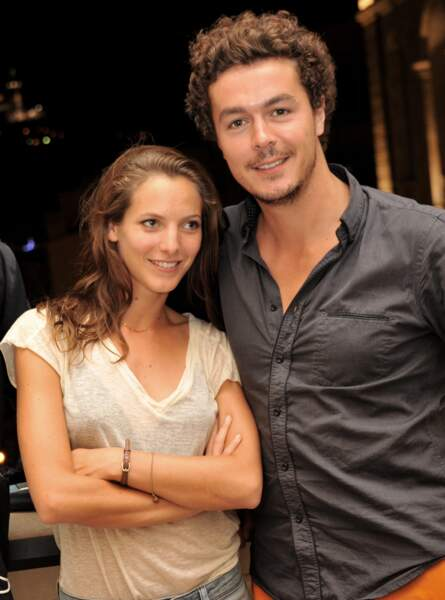 Elodie Varlet et son compagnon Jeremie Poppe posent a l'hotel Intercontinental de Marseille le 14 juillet 2013.