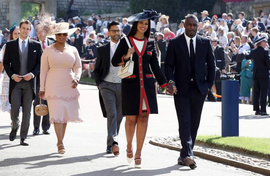 19 mai 2018 : arrivée d'Idris Elba, Sabrina Dhowre et Oprah Winfrey