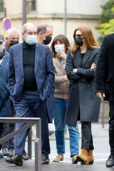 Pierre Lescure, Fabrice Le Ruyet, Vincent Lindon, Anne Marcassus, Chiara Mastroianni aux obsèques de Jean-Yves Bouvier à Paris ce 19 mai 2021