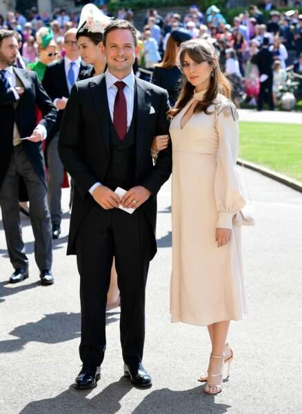 19 mai 2018 : arrivée de Patrick J. Adams et sa femme Troian Bellisario