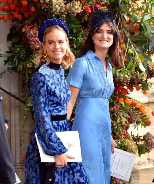 La robe fluide et cintrée de Cressida Bonas au mariage Eugenie d'York et Jack Brooksbank, le 12 octobre 2018.