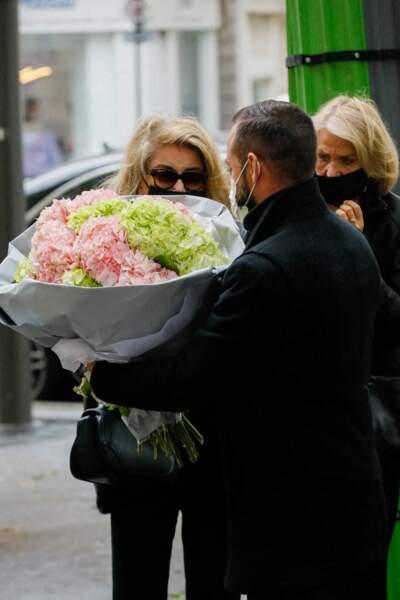 Catherine Deneuve aux obsèques de Jean-Yves Bouvier à l'église d'Auteuil à Paris le 19 mai 2021