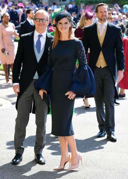 19 mai 2018 : Sarah Rafferty et son mari Santtu Seppälä sont aussi parmi les invités du mariage