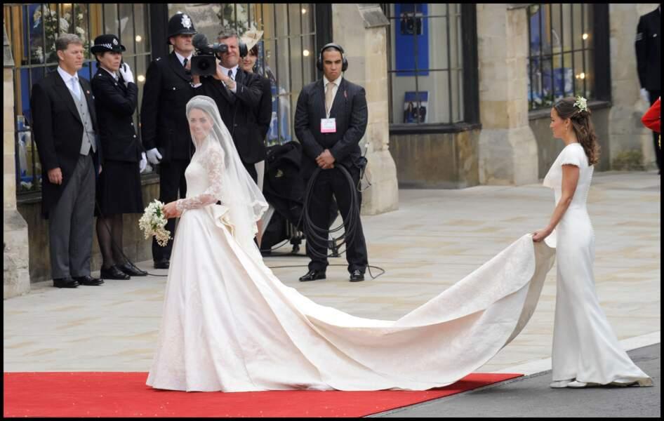 La robe de Pippa Middleton au mariage de Kate Middleton et le prince William