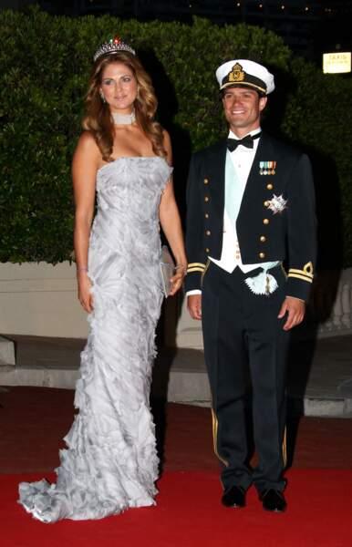 La robe bustier de Madeleine de Suède au mariage d'Albert et Charlene de Monaco