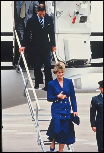 Lady Diana à Nottingham, le 11 septembre 1992
