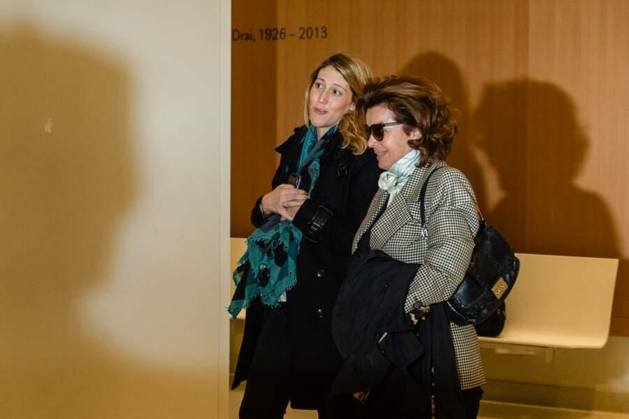 Dominique Tapie (à droite), avec Julia Minkowski, l'avocate de Bernard Tapie, lors du procès de Bernard Tapie en avril 2019.