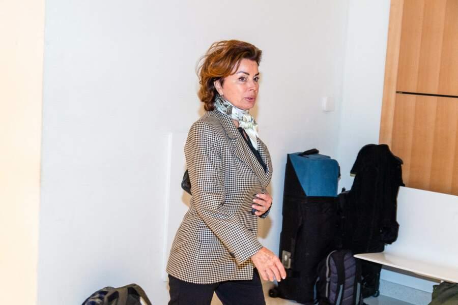 Dominique Tapie, l'épouse de Bernard Tapie, lors du jugement de son mari en avril 2019, à la 11ème chambre correctionnelle du Tribunal de Paris.