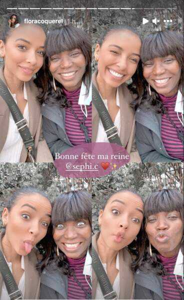 Flora Coquerel, très proche de sa maman, a posté en story un montage photo lui souhaitant une bonne fête des mères.