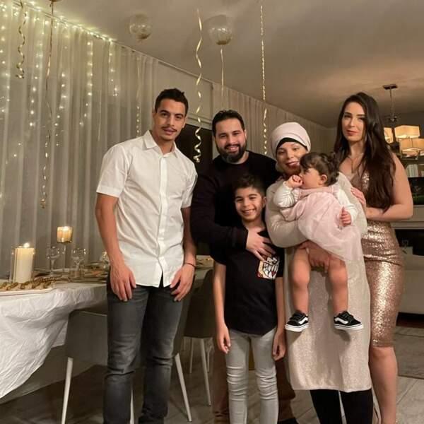 Wissam Ben Yedder et sa femme en janvier 2021.