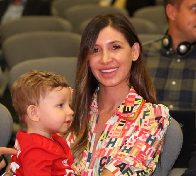 Amelia Ossa Llorente et son fils Martin en juillet 2019 à Munich.