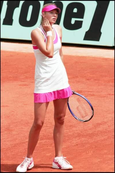 Maria Sharapova à Roland Garros en 2005